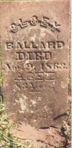 Chloe Flinn Ballard Headstone