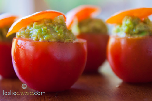 Avocado Stuffed Cherry Tomatoes