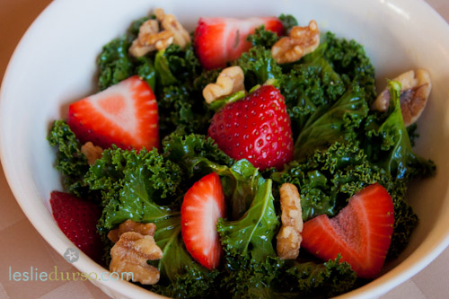 Strawberries and Kale… Spring Has Sprung!