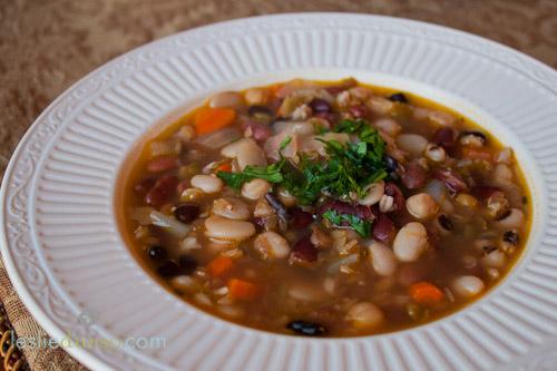 17 Bean and Barley Soup