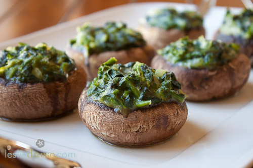 Creamed Spinach Stuffed Portobello Mushrooms