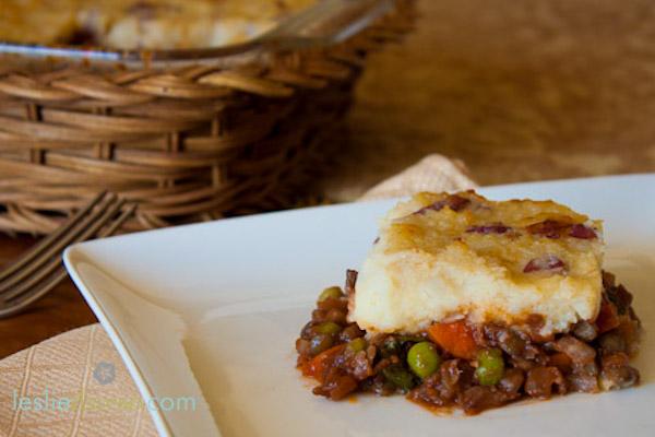 Mushroom Lentil Shepherd's Pie
