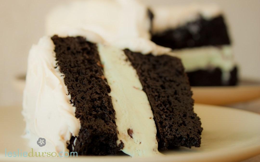 Mint Chocolate Ice Cream Cake that's vegan and gluten free too!