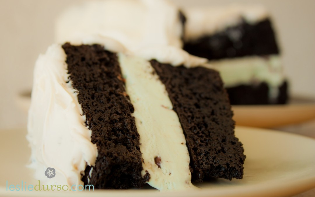 Mint Chocolate Ice Cream Cake that's vegan and gluten free too!
