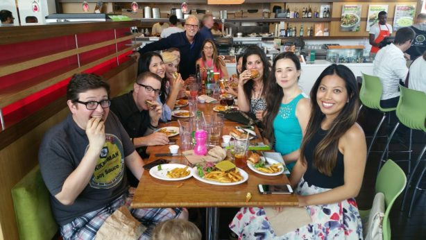 Leslie Durso's birthday at Veggie Grill