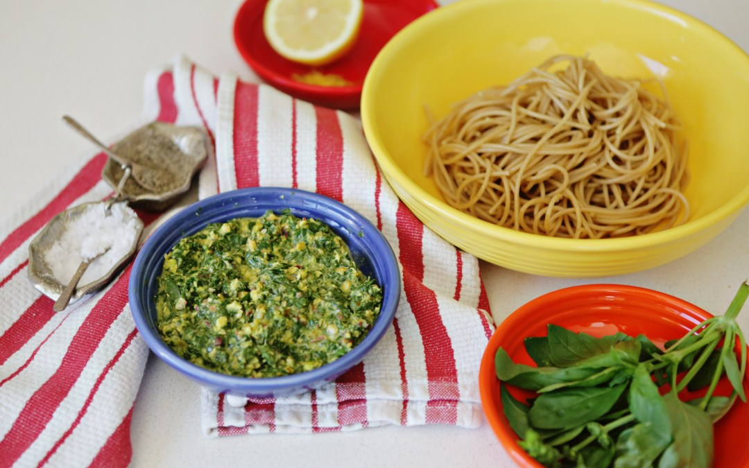 Lemon Pistachio Pesto Pasta