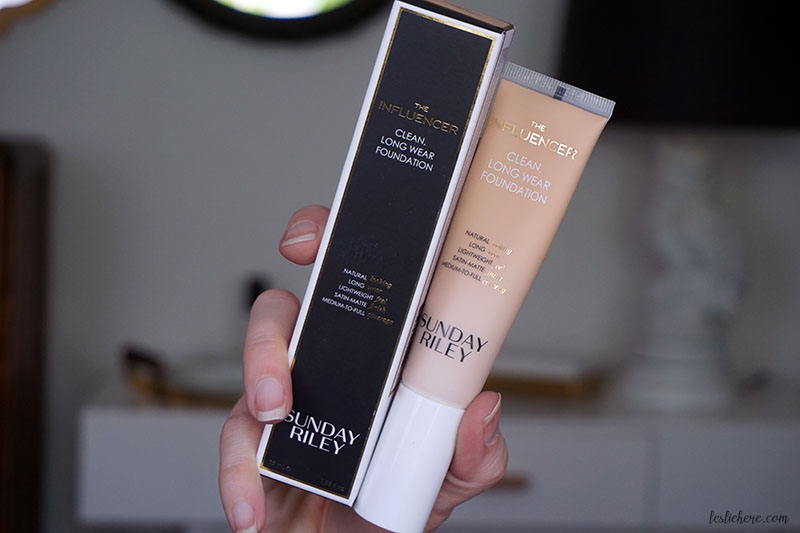 Sunday Riley New Influencer Foundation review
