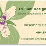 Trillium Designs Inc logo and bus card002