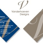 vanderhoeven logo and bus card