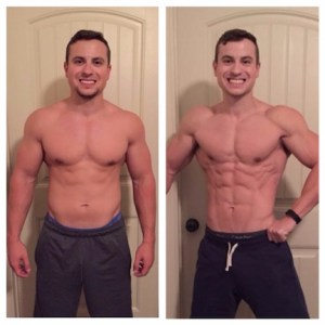 Client, Joseph, nailed his training and nutrition: from 12% body fat to 4%.