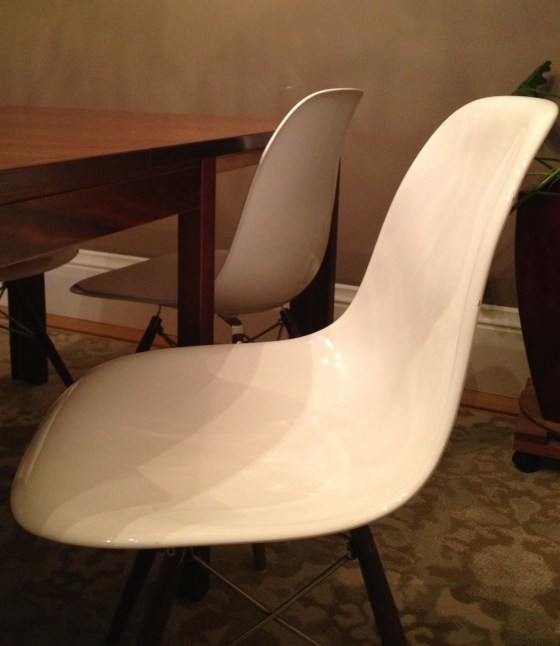 my eames chairs are comfortable and messes are easy to clean!