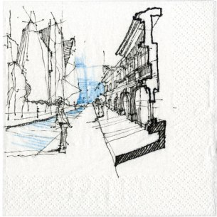 Best Firm Submissions, Vess Dimitrov, Architect, Callison; Seattle Napkin Sketch Title: Mirror of Time