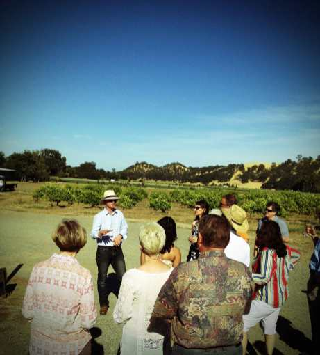 Thaddeus telling us the story of Capay Organic. Capay Organic is approximately 350 acres, 200 of which will be farmed this year due to drought.