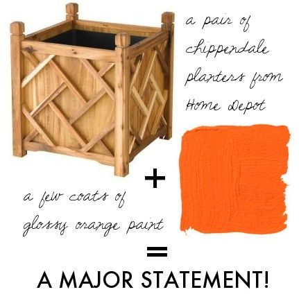 Get the look...grab these from home depot and do it yourself! thepursuitofstyle.com