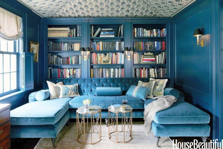 Don't you just want to curl up with a good book on this one... house beautiful