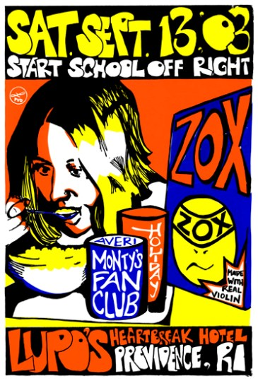 "Zox Cereal, 16"" x 20"", screenprint, 2003."