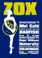 "Zox, Goldfinger, Badfish, 14"" x 18"", screenprint, 2002."