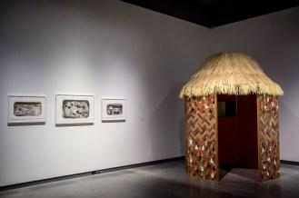 Vivianus (installation detail), here 27' x 10' x 16', mixed media installation, 2016.