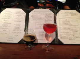 Delicious drinks and an extensive menu