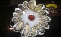 Platter of dozen oysters