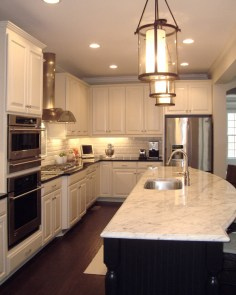 Nice large island with Carrera marble