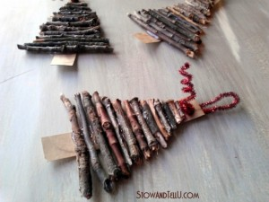 Rustic-twig-and-cardboard-Christmas-tree-ornaments-stow and tell u