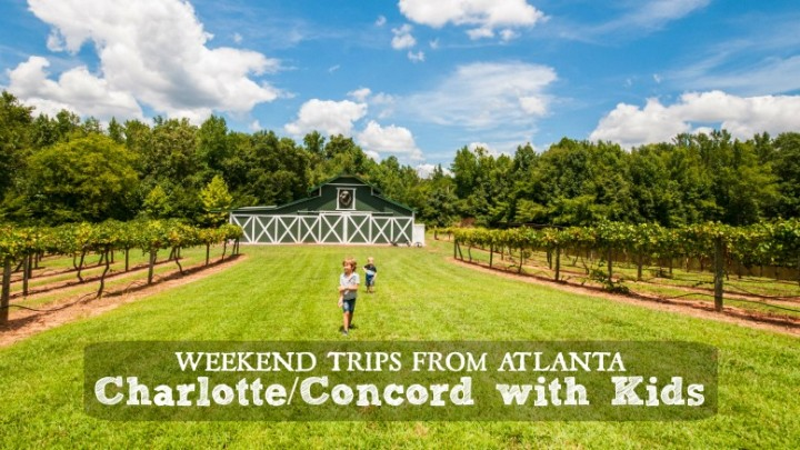 weekend trips from atlanta charlotte concord north carolina