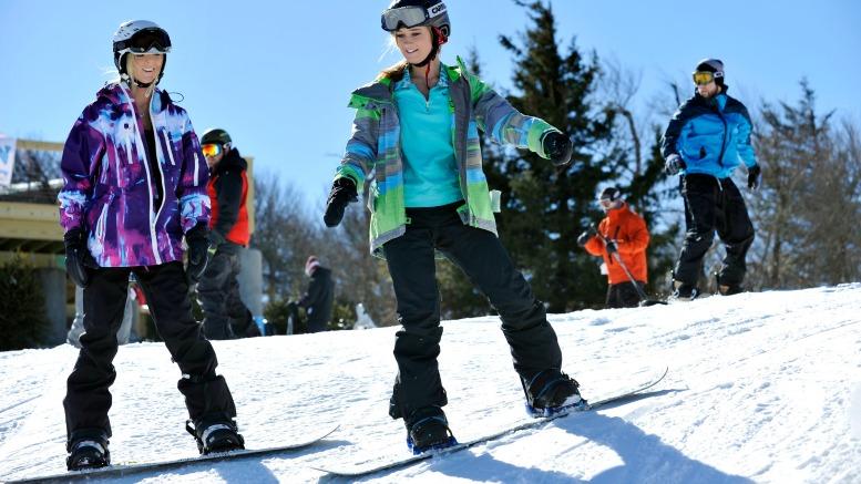 Snowboarding at Beech Mountain Ski Resort, Beech Mountian, NC