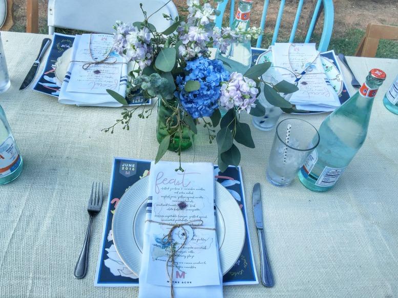 miltons garden dinner setting