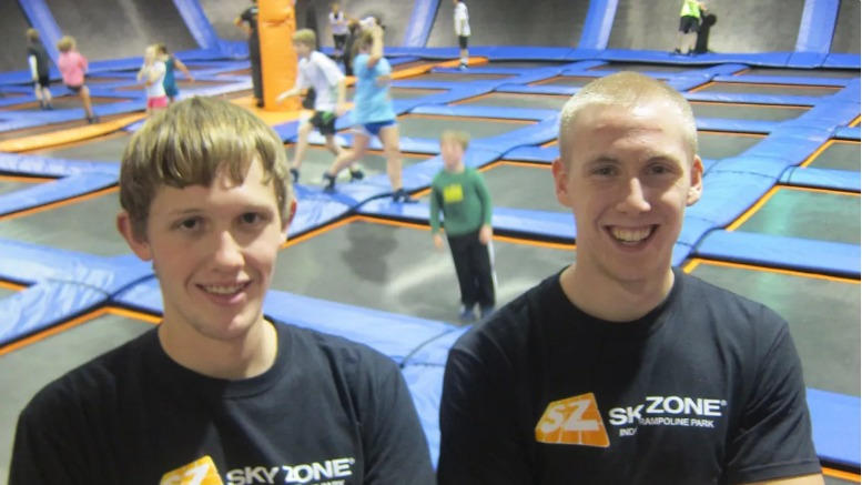 Sky Zone Atlanta has monitors on all the courts for safety.