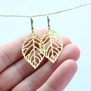 BO petites feuilles en filigrane - Ladybird Accessoires (2 sur 2)
