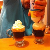 et un bel irish coffee