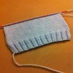 Mon tricot avance petit à petit