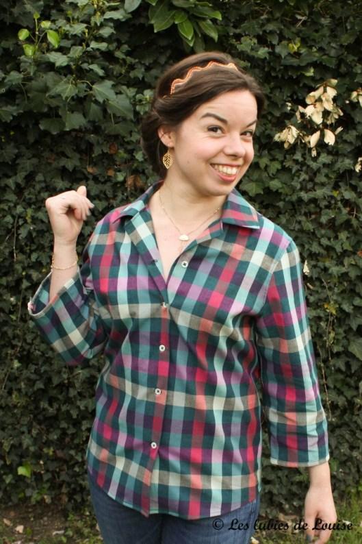Chemise à carreaux pour Alice - Les lubies de louise-10