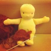 J'avance ma poupée