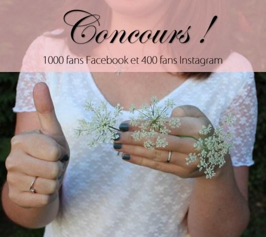 Concours 1000 fans facebook et 400 insta - les lubies de Louise