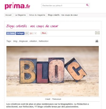 Prima blog créatifs