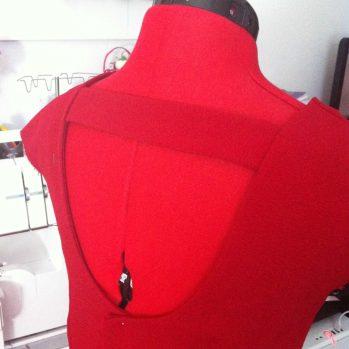 Je me suis essayée à la robe rouge