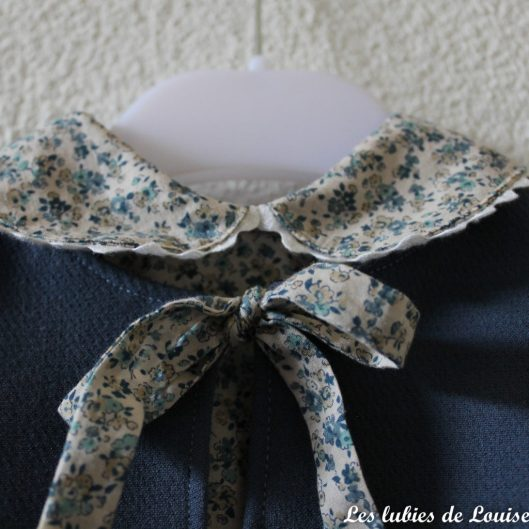 Ensemble robe et gilet de bébé - les lubies de louise-5