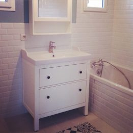 La salle de bain est presque terminée