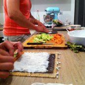 Les garçons font des sushis !!