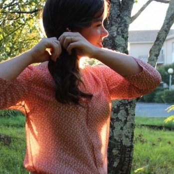 Ma blouse est sur le blog