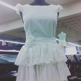 J'ai fais une robe de mariée pour le magasin !