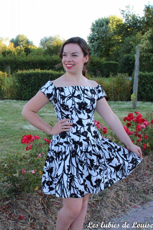 Seda dress pauline alice black and white- les lubies de louise-15