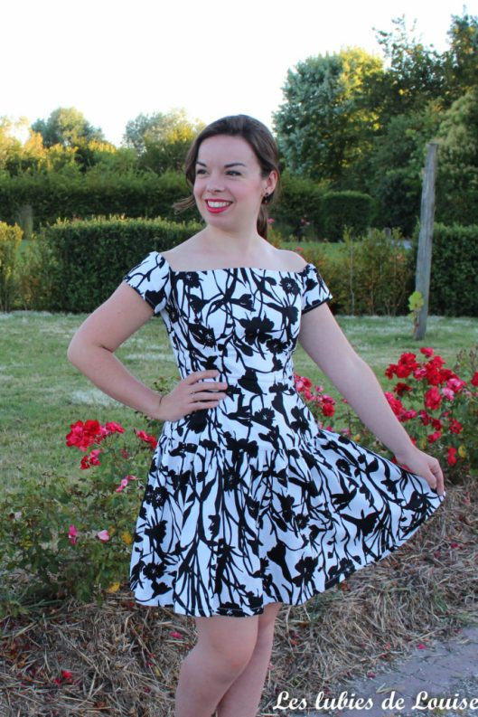 Seda dress pauline alice black and white- les lubies de louise-15