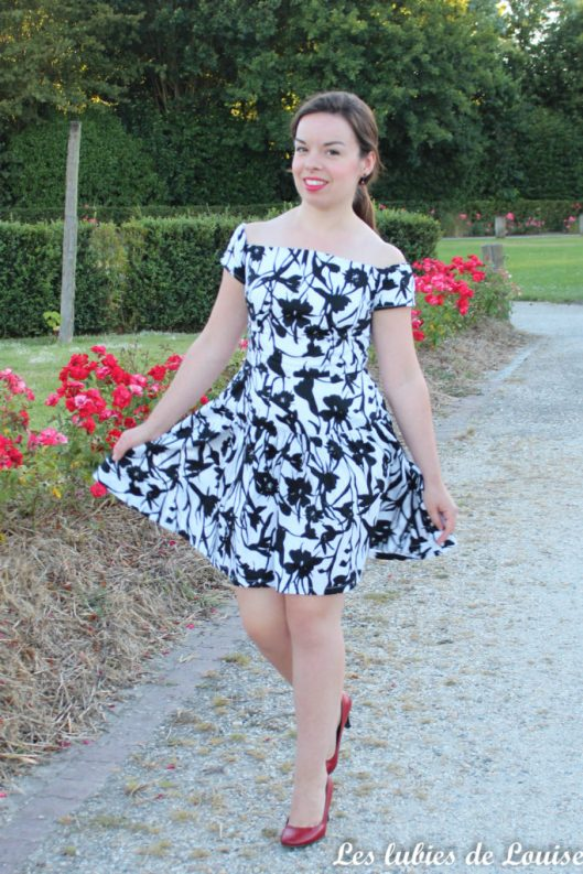 Seda dress pauline alice black and white- les lubies de louise-8