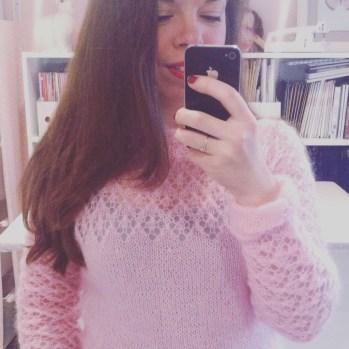 Première sortie pour mon pull dentelle tricoté par maman ♥