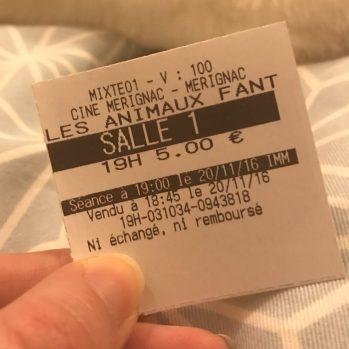 Nous sommes allés au ciné