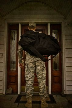 Image result for soldier at front door