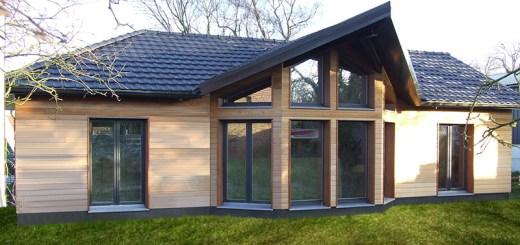 Maison d architecte dans le nord pas de calais les for Maison bois nord pas de calais